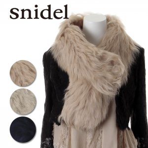 SNIDEL スナイデル ファーマフラー SWGG135629 【13AW2】【SALE】【60%OFF】<img class='new_mark_img2' src='//img.shop-pro.jp/img/new/icons20.gif' style='border:none;display:inline;margin:0px;padding:0px;width:auto;' />