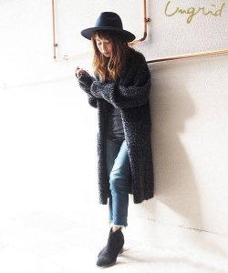 UNGRID アングリッド 【Ca】ブークレルーズニットガウン 111652813301 【16AW2】【SALE】【30%OFF】 <img class='new_mark_img2' src='https://img.shop-pro.jp/img/new/icons20.gif' style='border:none;display:inline;margin:0px;padding:0px;width:auto;' />