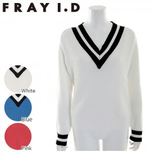 【SOLDOUT】FRAYI.D フレイアイディー VネックラインニットPO FWNT171033 【17SS1】 <img class='new_mark_img2' src='https://img.shop-pro.jp/img/new/icons47.gif' style='border:none;display:inline;margin:0px;padding:0px;width:auto;' />