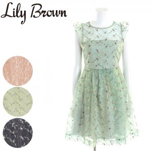 LILY BROWN リリーブラウン 小花刺繍フレアーワンピース LWFO171081 【17SS1】【新作】 <img class='new_mark_img2' src='//img.shop-pro.jp/img/new/icons11.gif' style='border:none;display:inline;margin:0px;padding:0px;width:auto;' />