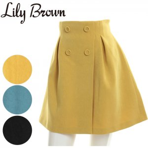LILY BROWN リリーブラウン タックミニスカート LWFS171123 【17SS1】【新作】 <img class='new_mark_img2' src='//img.shop-pro.jp/img/new/icons11.gif' style='border:none;display:inline;margin:0px;padding:0px;width:auto;' />