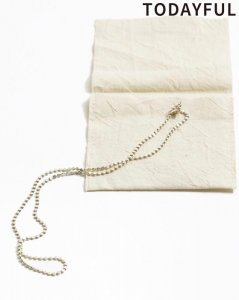 TODAYFUL トゥデイフル Flat Chain Necklace(Silver925) 11820990 【19SS1】【先行予約】【クレジット限定 納期1月〜2月頃予定】 <img class='new_mark_img2' src='https://img.shop-pro.jp/img/new/icons15.gif' style='border:none;display:inline;margin:0px;padding:0px;width:auto;' />