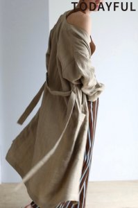 TODAYFUL トゥデイフル Linen Gown Coat 11910002 【19SS1】【先行予約】【クレジット限定 納期3月〜4月頃予定】 <img class='new_mark_img2' src='https://img.shop-pro.jp/img/new/icons15.gif' style='border:none;display:inline;margin:0px;padding:0px;width:auto;' />
