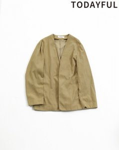 【SOLDOUT】TODAYFUL トゥデイフル Corduroy Rough Jacket 11910104 【19SS1】<img class='new_mark_img2' src='https://img.shop-pro.jp/img/new/icons47.gif' style='border:none;display:inline;margin:0px;padding:0px;width:auto;' />