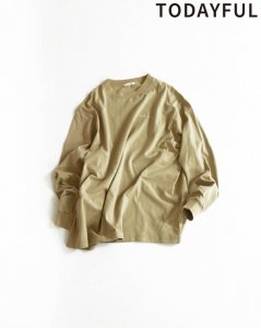 TODAYFUL トゥデイフル Lettering Long T-Shirts 11910617 【19SS1】【先行予約】【クレジット限定 納期2月〜3月頃予定】 <img class='new_mark_img2' src='https://img.shop-pro.jp/img/new/icons15.gif' style='border:none;display:inline;margin:0px;padding:0px;width:auto;' />