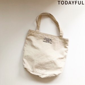 【SOLDOUT】TODAYFUL トゥデイフル Logo Print Totebag 11911016 【19SS1】 <img class='new_mark_img2' src='https://img.shop-pro.jp/img/new/icons47.gif' style='border:none;display:inline;margin:0px;padding:0px;width:auto;' />