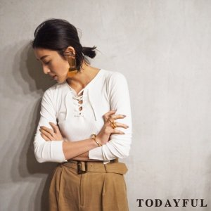 TODAYFUL トゥデイフル Laceup Rib Tops 11710616 【17SS1】【新作】 <img class='new_mark_img2' src='//img.shop-pro.jp/img/new/icons11.gif' style='border:none;display:inline;margin:0px;padding:0px;width:auto;' />