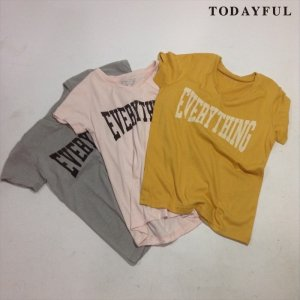 TODAYFUL トゥデイフル EVERYTHING Tee 11710623 【17SS1】【新作】 <img class='new_mark_img2' src='//img.shop-pro.jp/img/new/icons11.gif' style='border:none;display:inline;margin:0px;padding:0px;width:auto;' />