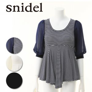 SNIDEL スナイデル 袖シフォンフレアトップス SWCT141165 【14SS】【SALE】【60%OFF】<img class='new_mark_img2' src='https://img.shop-pro.jp/img/new/icons20.gif' style='border:none;display:inline;margin:0px;padding:0px;width:auto;' />