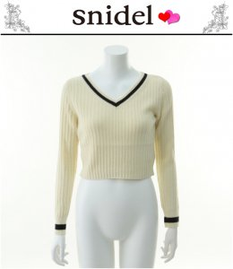 SNIDEL スナイデル ラインショートニット SWNT141098 【14SS】【SALE】【60%OFF】<img class='new_mark_img2' src='https://img.shop-pro.jp/img/new/icons20.gif' style='border:none;display:inline;margin:0px;padding:0px;width:auto;' />