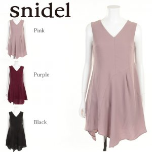 SNIDEL スナイデル イレギュラーヘムノースリOP SWFO175162 【17AW2】【新作】 <img class='new_mark_img2' src='https://img.shop-pro.jp/img/new/icons11.gif' style='border:none;display:inline;margin:0px;padding:0px;width:auto;' />