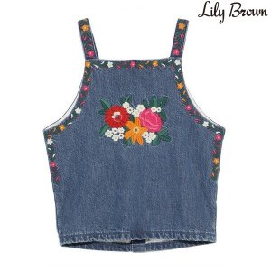 LILY BROWN リリーブラウン メキシコ刺繍デニムトップス LWFT171007【17SS1】【新作】<img class='new_mark_img2' src='//img.shop-pro.jp/img/new/icons11.gif' style='border:none;display:inline;margin:0px;padding:0px;width:auto;' />