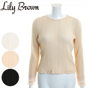 LILY BROWN リリーブラウン ヴィンテージレーストップス LWFT171071 【17SS1】【新作】 <img class='new_mark_img2' src='//img.shop-pro.jp/img/new/icons11.gif' style='border:none;display:inline;margin:0px;padding:0px;width:auto;' />