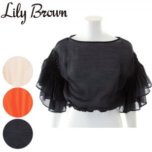 LILY BROWN リリーブラウン フリルスリーブトップス LWFT171104 【17SS1】【新作】 <img class='new_mark_img2' src='https://img.shop-pro.jp/img/new/icons11.gif' style='border:none;display:inline;margin:0px;padding:0px;width:auto;' />
