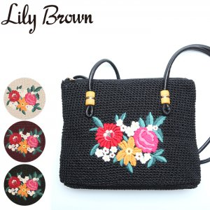 ●LILY BROWN リリーブラウン 刺繍ショルダーバッグ LWGB171309 【17SS1】【新作】 <img class='new_mark_img2' src='//img.shop-pro.jp/img/new/icons11.gif' style='border:none;display:inline;margin:0px;padding:0px;width:auto;' />