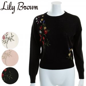 LILY BROWN リリーブラウン 刺繍入りニットプルオーバー LWNT171162 【17SS1】【新作】 <img class='new_mark_img2' src='https://img.shop-pro.jp/img/new/icons11.gif' style='border:none;display:inline;margin:0px;padding:0px;width:auto;' />
