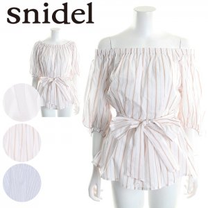 SNIDEL スナイデル オフショルペプラムBL SWFB171120 【17SS1】【SALE】【40%OFF】<img class='new_mark_img2' src='https://img.shop-pro.jp/img/new/icons20.gif' style='border:none;display:inline;margin:0px;padding:0px;width:auto;' />