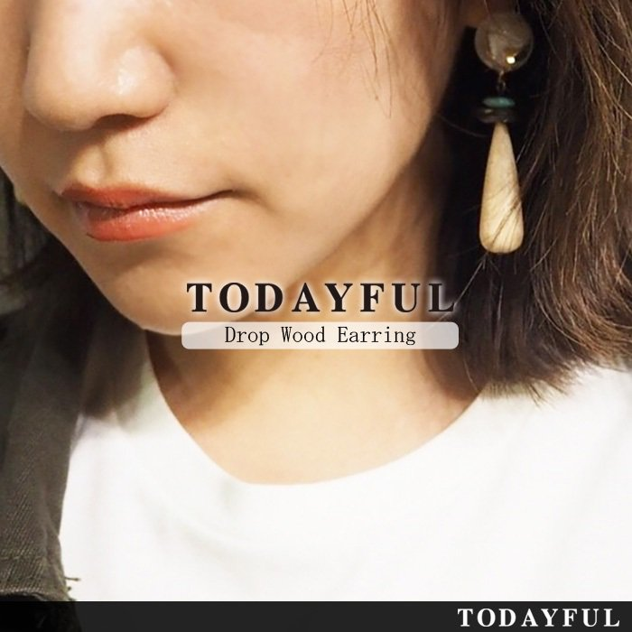 TODAYFUL トゥデイフル Drop Wood Earring 11710906 【17SS1】【新作】