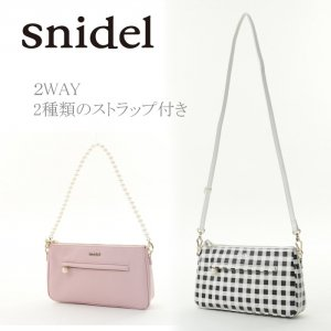 SNIDEL スナイデル ミニ2WAYパールバッグ SWGB142607【14SS2】【SALE】【60%OFF】<img class='new_mark_img2' src='https://img.shop-pro.jp/img/new/icons20.gif' style='border:none;display:inline;margin:0px;padding:0px;width:auto;' />