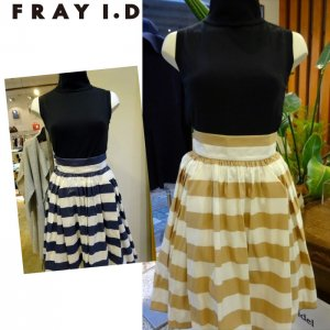 FRAY ID フレイアイディー メモリーボーダーリボンスカート FWFS142599 【14SS2】【SALE】【70%OFF】<img class='new_mark_img2' src='https://img.shop-pro.jp/img/new/icons20.gif' style='border:none;display:inline;margin:0px;padding:0px;width:auto;' />