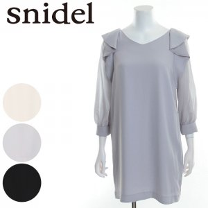 SNIDEL スナイデル スリーブデザインOP SWFO171039 【17SS1】【新作】 <img class='new_mark_img2' src='//img.shop-pro.jp/img/new/icons11.gif' style='border:none;display:inline;margin:0px;padding:0px;width:auto;' />