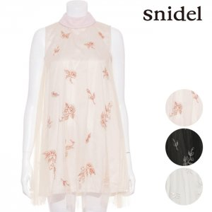 SNIDEL スナイデル チュールエンブロイダリーOP SWFO171049 【17SS1】【新作】 <img class='new_mark_img2' src='//img.shop-pro.jp/img/new/icons11.gif' style='border:none;display:inline;margin:0px;padding:0px;width:auto;' />