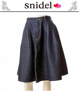 SNIDEL スナイデル snidelxLeeフレアスカート SWFS144065 【14AW】【SALE】【60%OFF】<img class='new_mark_img2' src='https://img.shop-pro.jp/img/new/icons20.gif' style='border:none;display:inline;margin:0px;padding:0px;width:auto;' />