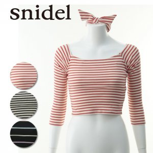 SNIDEL スナイデル オフショルカットトップス SWCT142279 【14SS】【SALE】【60%OFF】<img class='new_mark_img2' src='https://img.shop-pro.jp/img/new/icons20.gif' style='border:none;display:inline;margin:0px;padding:0px;width:auto;' />