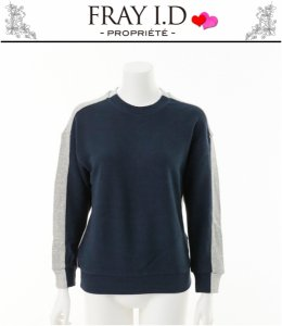 FRAY ID フレイアイディー バイカラースウェットプルオーバー FWCT144169 【14AW】【SALE】【70%OFF】<img class='new_mark_img2' src='https://img.shop-pro.jp/img/new/icons20.gif' style='border:none;display:inline;margin:0px;padding:0px;width:auto;' />