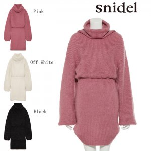 SNIDEL スナイデル ラメルーズタートルニットOP SWNO175060 【17AW2】【SALE】【40%OFF】