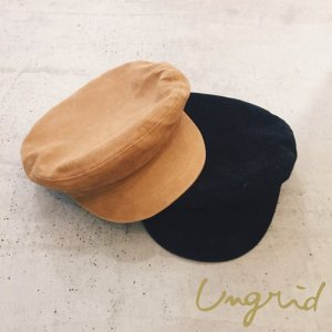 【SOLDOUT】UNGRID アングリッド 【Ca】フェイクスウェードマリンキャップ 111711004401 【17SS1】 <img class='new_mark_img2' src='https://img.shop-pro.jp/img/new/icons47.gif' style='border:none;display:inline;margin:0px;padding:0px;width:auto;' />