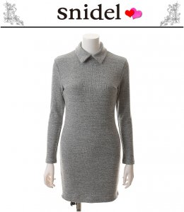 SNIDEL スナイデル 衿付きタイトワンピース SWCO145237 【14AW2】【SALE】【70%OFF】<img class='new_mark_img2' src='https://img.shop-pro.jp/img/new/icons20.gif' style='border:none;display:inline;margin:0px;padding:0px;width:auto;' />