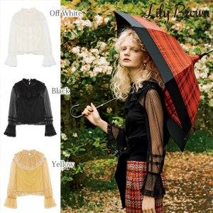 LILY BROWN リリーブラウン チュールフリルトップス LWCT174087 【17AW1】【先行予約】【クレジット限定 納期2017/09/上〜10/上頃予定】<img class='new_mark_img2' src='https://img.shop-pro.jp/img/new/icons15.gif' style='border:none;display:inline;margin:0px;padding:0px;width:auto;' />