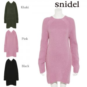 SNIDEL スナイデル ワイドリブニットミニOP SWNO175065 【17AW2】【新作】 <img class='new_mark_img2' src='https://img.shop-pro.jp/img/new/icons11.gif' style='border:none;display:inline;margin:0px;padding:0px;width:auto;' />