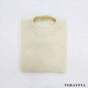 【SOLDOUT】TODAYFUL トゥデイフル Crewneck Big Knit 11620512 【16AW2】 <img class='new_mark_img2' src='//img.shop-pro.jp/img/new/icons47.gif' style='border:none;display:inline;margin:0px;padding:0px;width:auto;' />