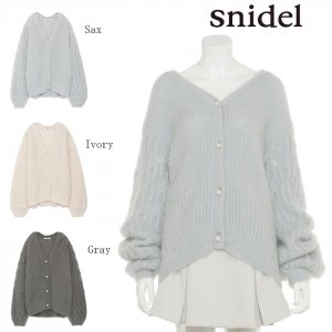 ●SNIDEL スナイデル パールモヘアミドルカーディガン SWNT175020 【17AW2】【先行予約】【クレジット限定 納期2017/11/下〜12/下頃予定】 <img class='new_mark_img2' src='https://img.shop-pro.jp/img/new/icons15.gif' style='border:none;display:inline;margin:0px;padding:0px;width:auto;' />
