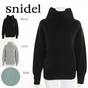 SNIDEL スナイデル ハミルトンウールタートルニットPO SWNT175084 【17AW2】【新作】 <img class='new_mark_img2' src='https://img.shop-pro.jp/img/new/icons11.gif' style='border:none;display:inline;margin:0px;padding:0px;width:auto;' />
