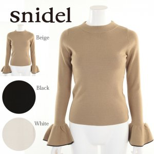 SNIDEL スナイデル スリーブポイントニットPO SWNT175093 【17AW2】【新作】 <img class='new_mark_img2' src='https://img.shop-pro.jp/img/new/icons11.gif' style='border:none;display:inline;margin:0px;padding:0px;width:auto;' />