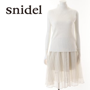 SNIDEL スナイデル シフォンニットコンビワンピース SWNO151065 【15SS】【SALE】【50%OFF】<img class='new_mark_img2' src='//img.shop-pro.jp/img/new/icons20.gif' style='border:none;display:inline;margin:0px;padding:0px;width:auto;' />