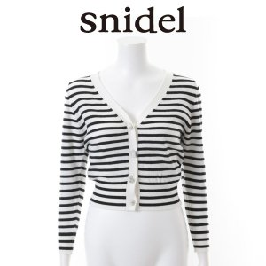 SNIDEL スナイデル ビジュー釦カーディガン SWNT152006 【15SS2】【SALE】【50%OFF】<img class='new_mark_img2' src='https://img.shop-pro.jp/img/new/icons20.gif' style='border:none;display:inline;margin:0px;padding:0px;width:auto;' />