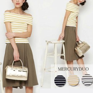 MERCURY マーキュリー 【DUO】 衿付ボーダーオフショルカットソー 001520601201 【15SS2】【SALE】【50%OFF】<img class='new_mark_img2' src='//img.shop-pro.jp/img/new/icons20.gif' style='border:none;display:inline;margin:0px;padding:0px;width:auto;' />