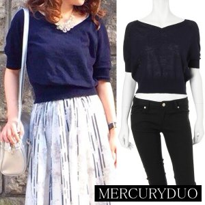 MERCURY マーキュリー 【DUO】 オフショルVネック半袖ニット 001520500401 【15SS2】【SALE】【50%OFF】<img class='new_mark_img2' src='//img.shop-pro.jp/img/new/icons20.gif' style='border:none;display:inline;margin:0px;padding:0px;width:auto;' />