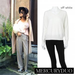 MERCURY マーキュリー 【DUO】 RN BASIC Vネックニット 001530501901 【15AW1】【人気商品】<img class='new_mark_img2' src='//img.shop-pro.jp/img/new/icons31.gif' style='border:none;display:inline;margin:0px;padding:0px;width:auto;' />