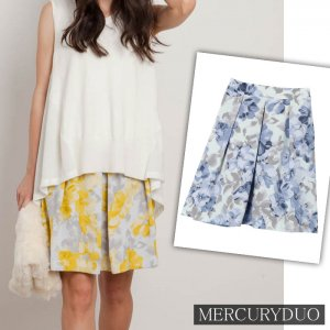 MERCURY マーキュリー 【DUO】 FLOWERプリントタックminスカート 001530800801 【15AW1】【SALE】【30%OFF】<img class='new_mark_img2' src='//img.shop-pro.jp/img/new/icons20.gif' style='border:none;display:inline;margin:0px;padding:0px;width:auto;' />