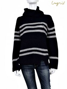 UNGRID アングリッド 【Ca】タートルボーダールーズニット 111652620701 【16AW1】 【SALE】【30%OFF】 <img class='new_mark_img2' src='https://img.shop-pro.jp/img/new/icons20.gif' style='border:none;display:inline;margin:0px;padding:0px;width:auto;' />