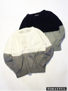 TODAYFUL トゥデイフル Bicolor Mohair Knit ニット 11520503 【15AW2】【SALE】【30%OFF】<img class='new_mark_img2' src='https://img.shop-pro.jp/img/new/icons20.gif' style='border:none;display:inline;margin:0px;padding:0px;width:auto;' />