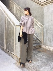 TODAYFUL トゥデイフル Cable Highneck Knit ニット 11520508 【15AW2】【SALE】【30%OFF】<img class='new_mark_img2' src='https://img.shop-pro.jp/img/new/icons20.gif' style='border:none;display:inline;margin:0px;padding:0px;width:auto;' />