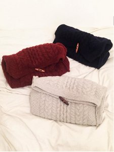 TODAYFUL トゥデイフル Cable Knit Clutch クラッチ 11521036 【15AW2】【SALE】【30%OFF】<img class='new_mark_img2' src='https://img.shop-pro.jp/img/new/icons20.gif' style='border:none;display:inline;margin:0px;padding:0px;width:auto;' />