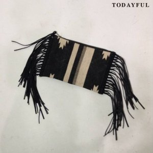 【SOLDOUT】TODAYFUL トゥデイフル Canvas Fringe Clutchbag 11621052 【16AW2】 <img class='new_mark_img2' src='//img.shop-pro.jp/img/new/icons47.gif' style='border:none;display:inline;margin:0px;padding:0px;width:auto;' />