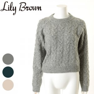 LILYBROWN リリーブラウン ケーブルニット LWNT155067 【15AW2】【SALE】【40%OFF】<img class='new_mark_img2' src='//img.shop-pro.jp/img/new/icons20.gif' style='border:none;display:inline;margin:0px;padding:0px;width:auto;' />